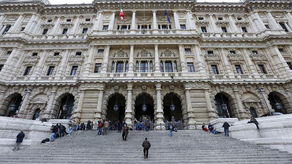 El palacio de la Corte de Casación en Roma, Italia. 27 de marzo de 2015.