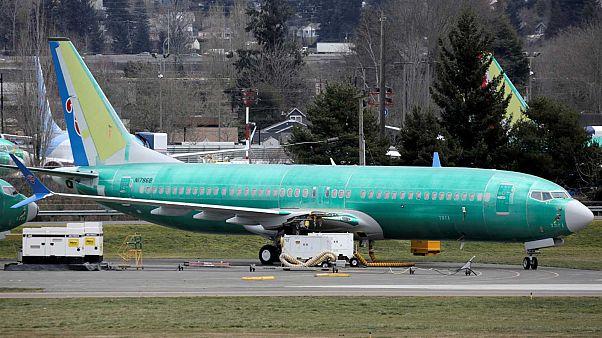 Un 737 Max 8 photographié le 11/3/2019 sur le site de Boeing à Renton (USA)