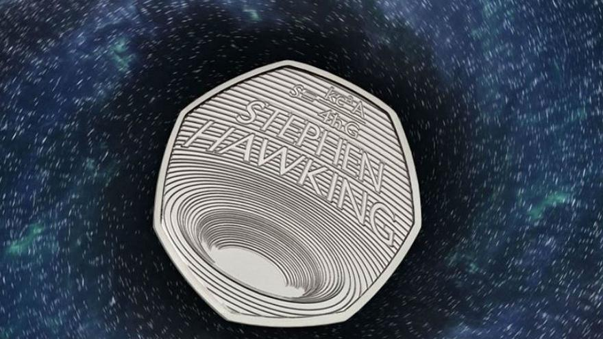 Royal Mint unveils new 50p 'black hole' coin in honour of Stephen Hawking's work