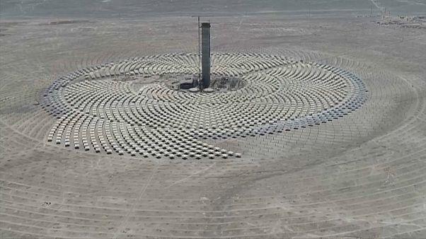 Imagen aérea de la planta Cerro Dominador