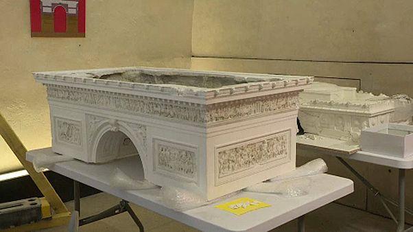 Restorers fix artefacts damaged during Paris 'gilets jaunes' protests