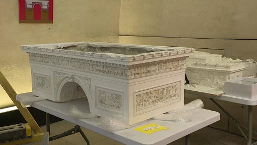 Restorers fix artefacts damaged during Paris 'gilets jaunes' protests
