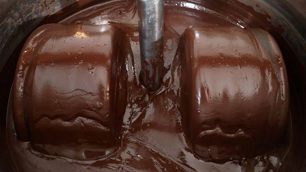 فيديو: دراجة هوائية تطحن حبوب الكاكاو لتصنيع الشوكولاتة في ساحل العاج