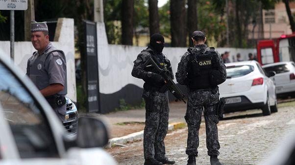 Brezilya'da ilkokula silahlı baskın: 5'i çocuk en az 9 ölü