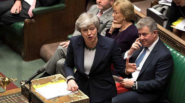 Theresa May au Parlement britannique le 13 mars 2019