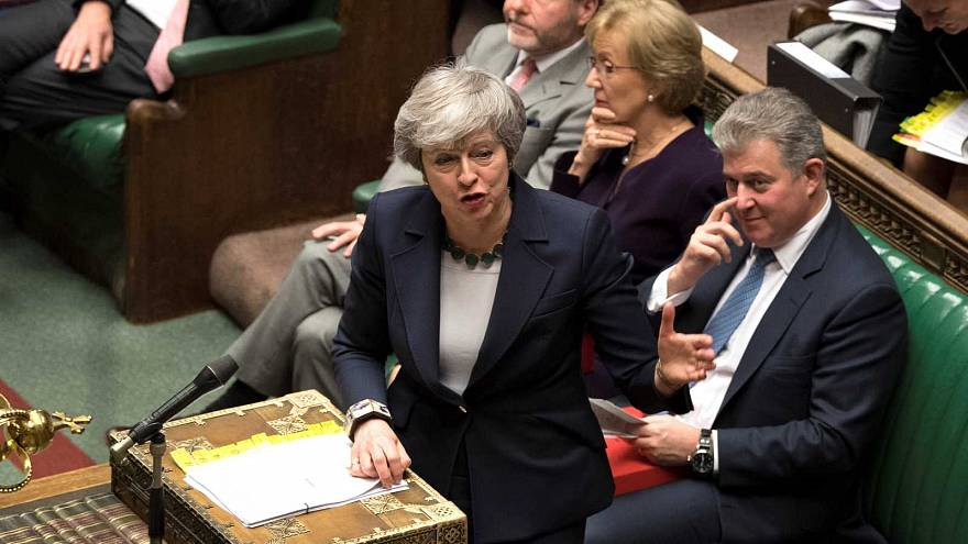 Theresa May au Parlement britannique le 13 mars 2019