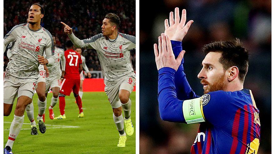 """Barcelona e Liverpool carimbam o passaporte para os """"quartos"""""""