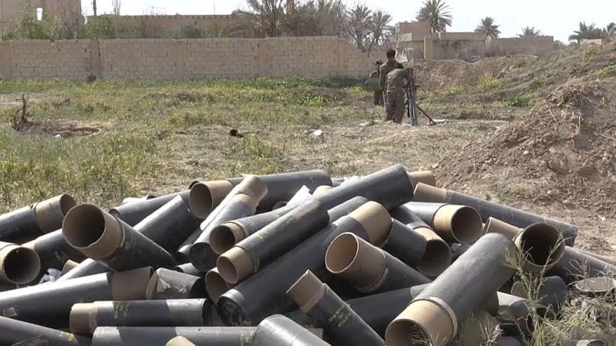 فوارغ القذائف المستخدمة في قتال داعش بباغوز