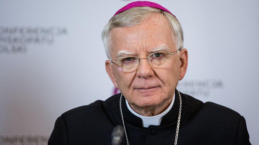 Archbishop Marek Jedraszewski attends a news conference in Warsaw