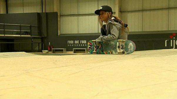 Una 'skater' de 10 años aspira a participar en Tokio 2010