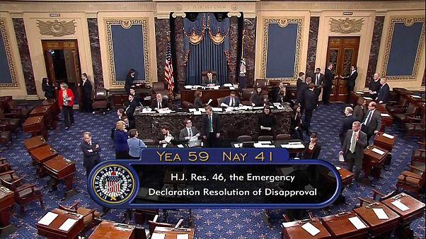Trump humillado en el Senado estadounidense por el muro