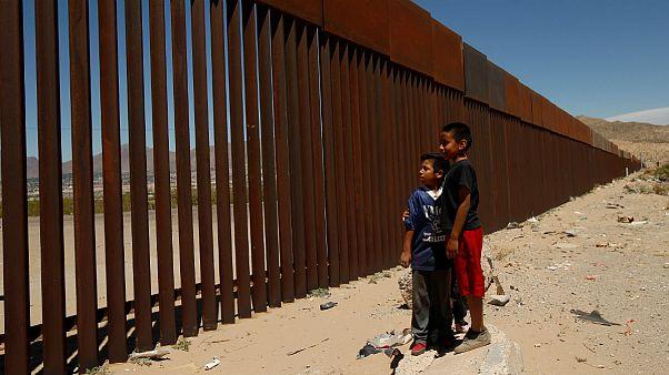Una sezione del muro tra Usa e Messico nei pressi di Anapra, Ciudad Juarez