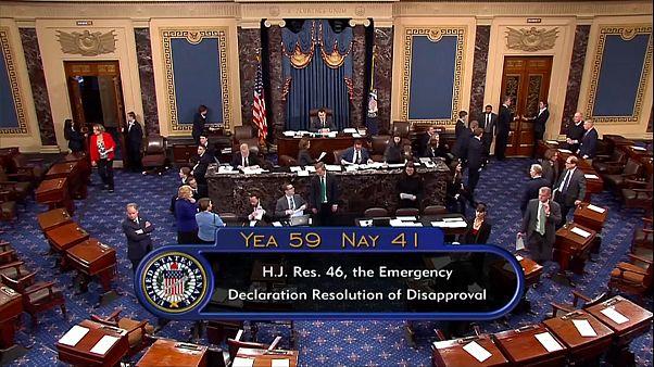ABD Senatosu, Başkan Trump'ın acil durum ilanını iptal etti