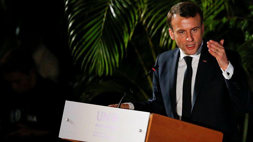 Il Presidente Macron si rivolge al forum per l'ambiente delle Nazioni Unite