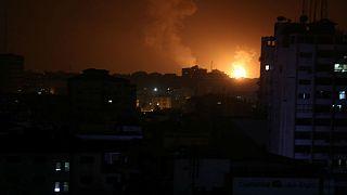 حمله به ۱۰۰ موضع حماس در واکنش به حملات موشکی تلآویو