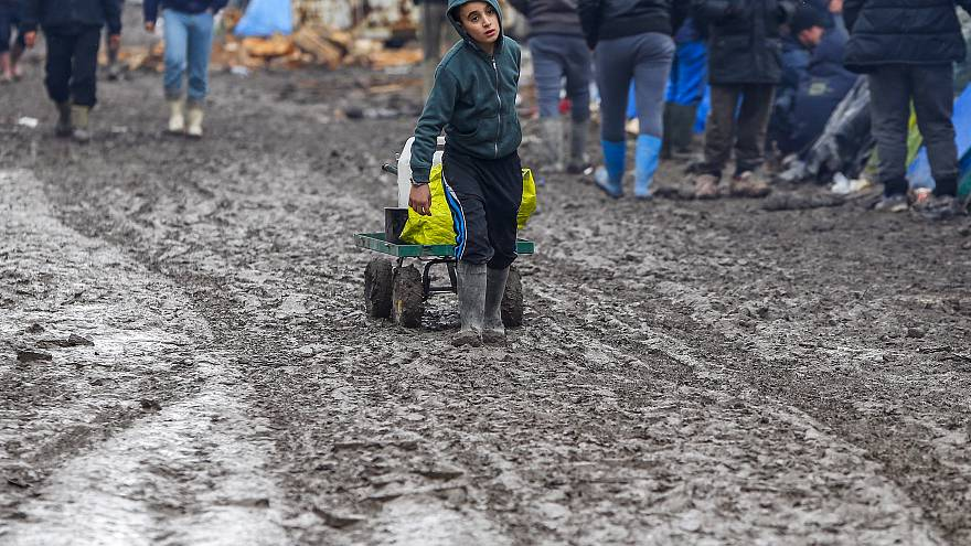 A young migrant near Calais, France, February 3, 2016.