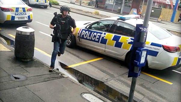 لحظه بازداشت یکی از مظنونان حمله تروریستی به مساجد نیوزیلند