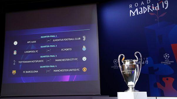 Η κλήρωση των προημιτελικών του Champion's League