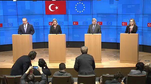 موغيريني تلتقي أوغلو وسط تأكيد على أهمية الحوار بين بروكسل وأنقرة