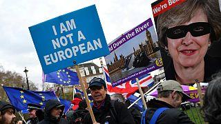 تظاهرات به طرفداری از برکسیت در بریتانیا
