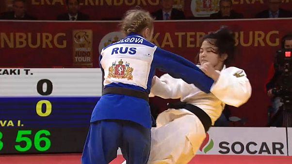 جودو؛ برنز تنها مدال روسیه در روز نخست گرند اسلم یکاترینبورگ