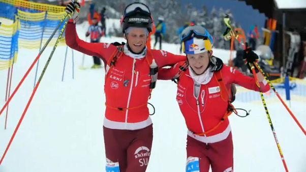 سويسرا تحرز لقب سباق الزوجي في بطولة العالم للتزلج الألبي