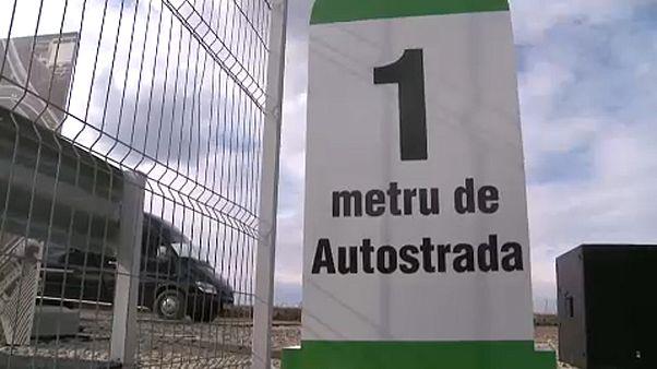Roumanie : une autoroute de 1 km pour réclamer un meilleur réseau routier