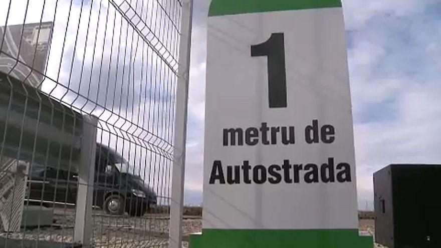 Autopista de 1 metro en Rumanía