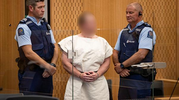Brenton Tarrant in court - authorities ordered his face not be shown