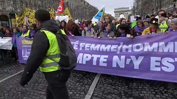 Video: Fransa'da Sarı Yelekliler gösterilerin 18. haftasında polisle çatıştı