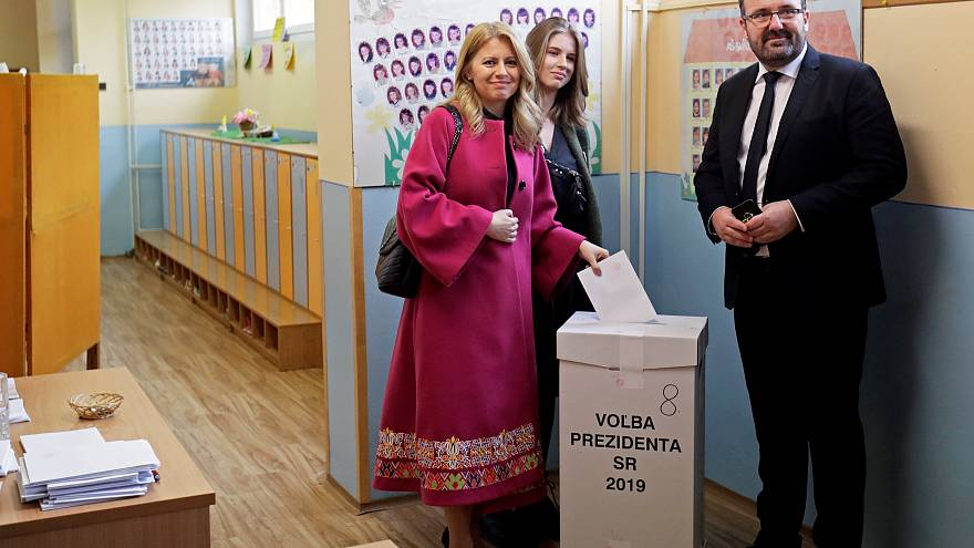 Anti-corruption campaigner on course for surprise win in Slovakia's presidential election