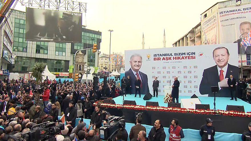 Erdoğan seçim mitinginde sosyal medyada kaldırılan Yeni Zelanda cami katliamı görüntülerini paylaştı