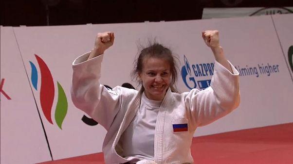 """الجيدو: الروسية داريا دافيدوفا تحرز أول ذهبية لبلدها في """"غراند سلام"""" يكاترينبورغ"""