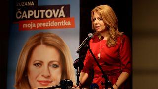 Erste Prognosen nach Stichwahl: Favoritin Čaputová vorn