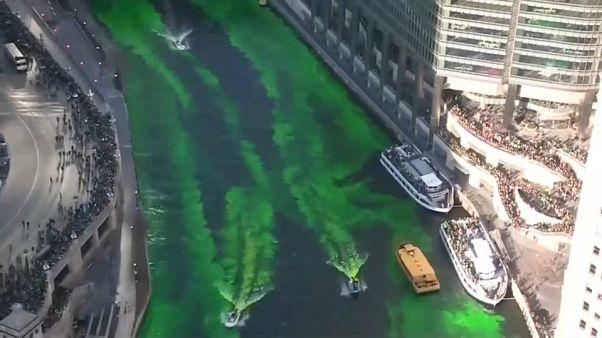 Chicago veste-se de verde para celebrar Dia de São Patrício