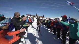 Pierra Menta : finish sous le soleil
