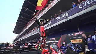 Pleno de victorias de Álvaro Bautista en el Mundial de Superbikes