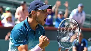 Dominic Thiem discute título de Indian Wells com Roger Federer