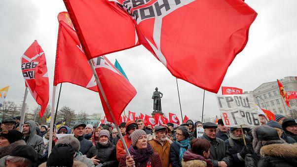 Nacionalisták és baloldaliak együtt tüntettek Putyin ellen