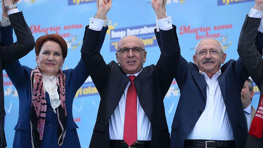 Kılıçdaroğlu ile Millet İttifakı mitinginde buluşan Akşener: Savaşa değil yerel seçime gidiyoruz
