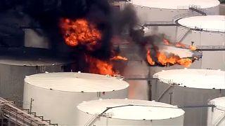 Tűz egy texasi vegyi üzemben