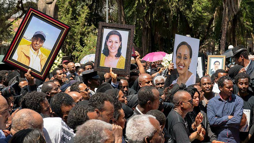 Ceremonias en Etiopia por las víctimas del accidente aéreo