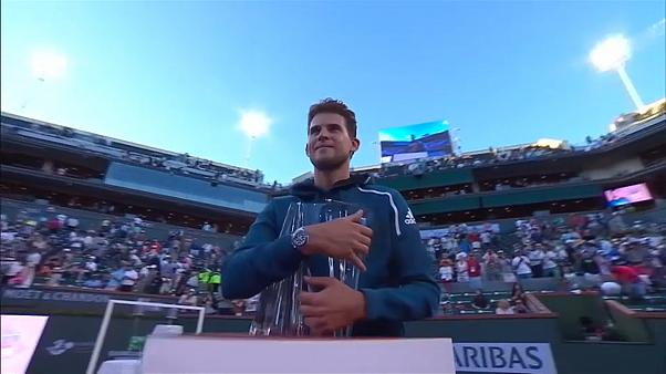 Tennis: Thiem batte Federer e si aggiudica il torneo di Indian Wells