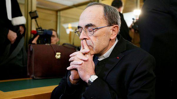 Le cardinal français Philippe Barbarin reçu par le pape François au Vatican