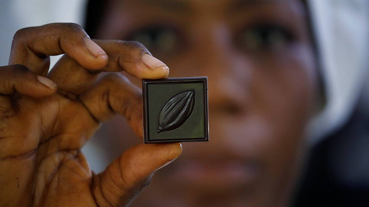 This organic chocolate is made by hand... and feet