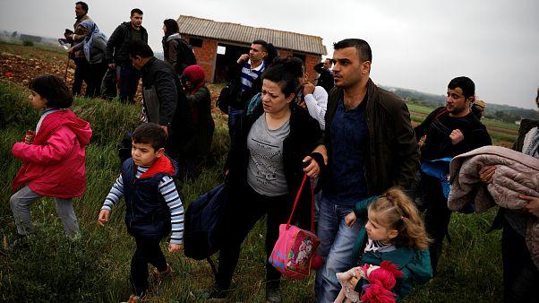Refugiados sirios cruzaron el río Evros. 2 de mayo, 2018.
