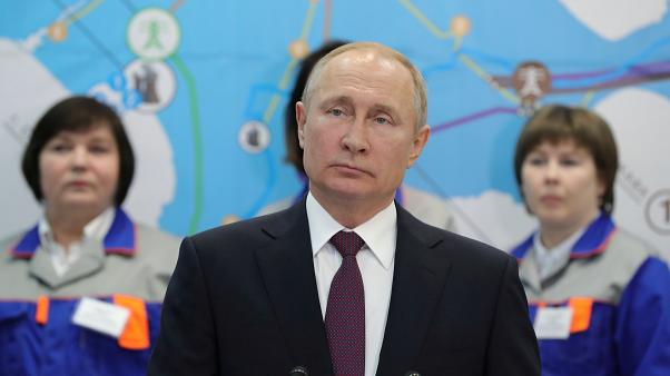 Vladimir Putin attends the inauguration of two power stations.