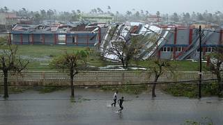 صورة لإعصار إيداي في موزمبيق