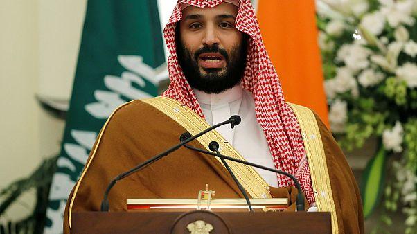 ولي العهد السعودي الأمير محمد بن سلمان في مؤتمر مع رئيس الوزاء الهندي