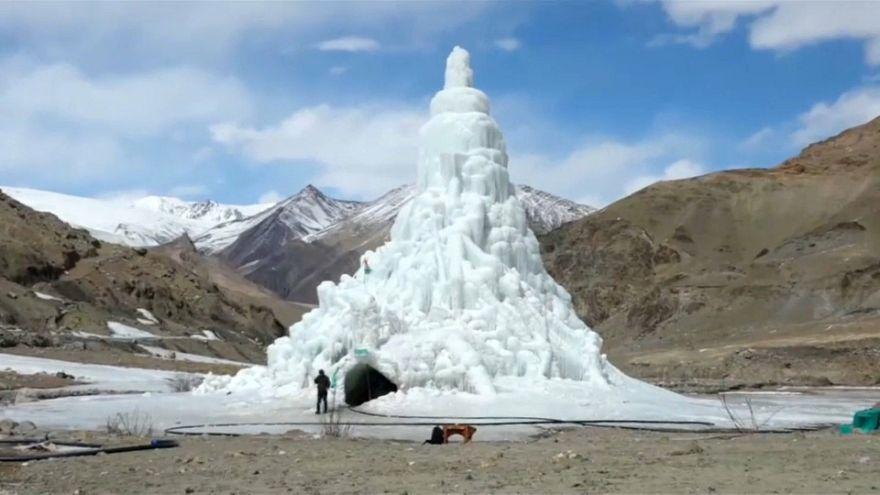 Un café en un templo de hielo